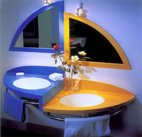 двойной умывальник в ванную