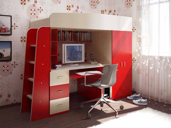 Кровать для подростка со столом