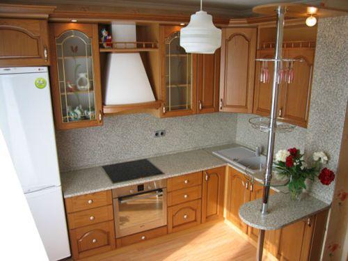 Кухня с деревянными фасадами в феодосии